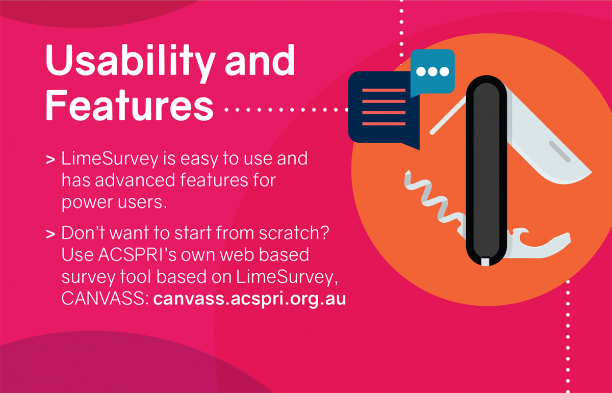 ACSPRI LimeSurvey: Features